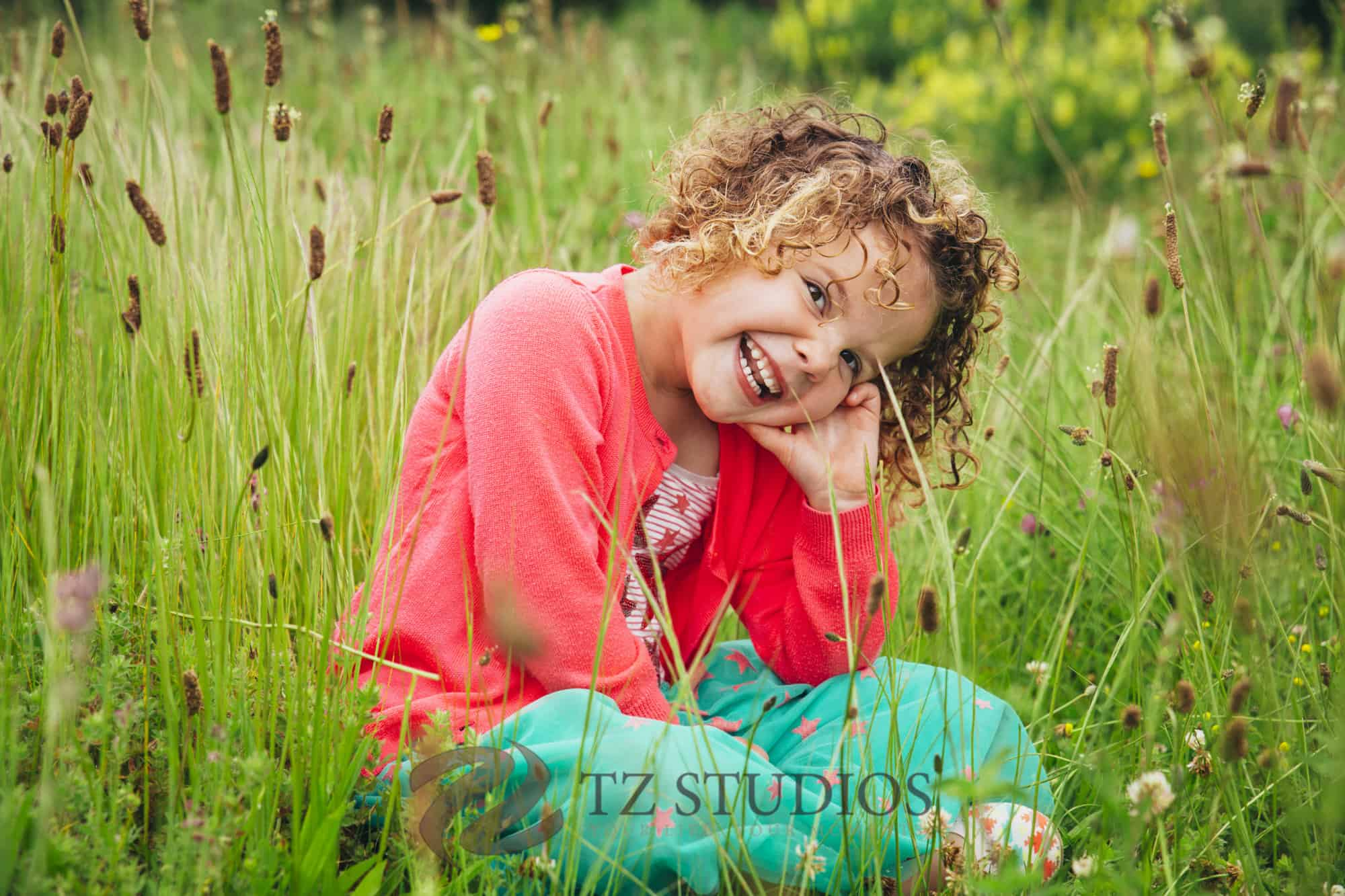 Kids of Manawatu children portrait project with this super happy girl